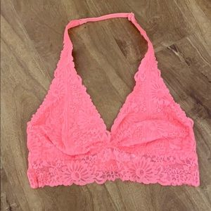 Coral halter pink Victoria's secrets bra